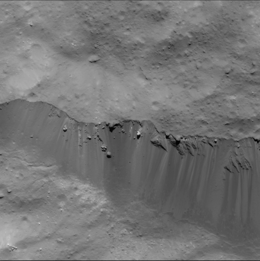 Eastern wall of Occator Crater