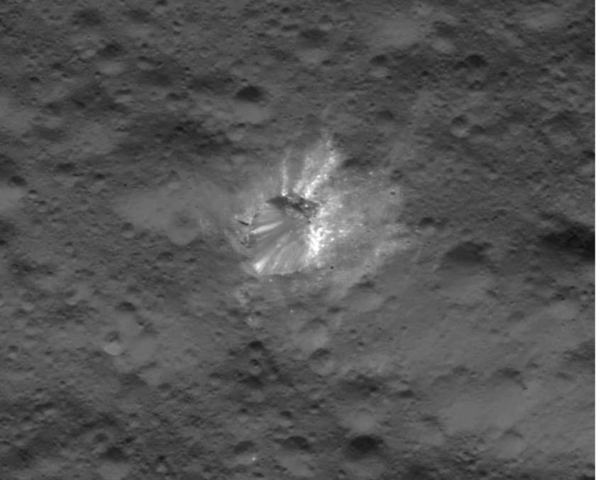 Urvara Crater interior