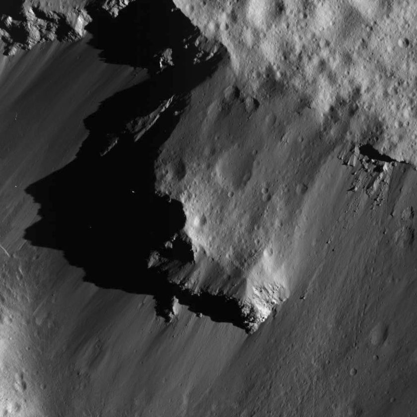 North wall of Urvara Crater