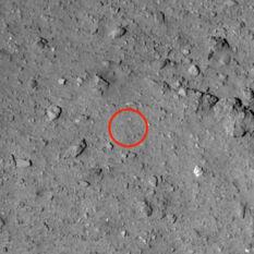 Ryugu candidate landing site L08-B (closeup)