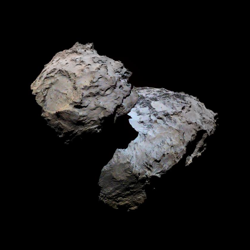 Portrait of comet Churyumov-Gerasimenko in enhanced color