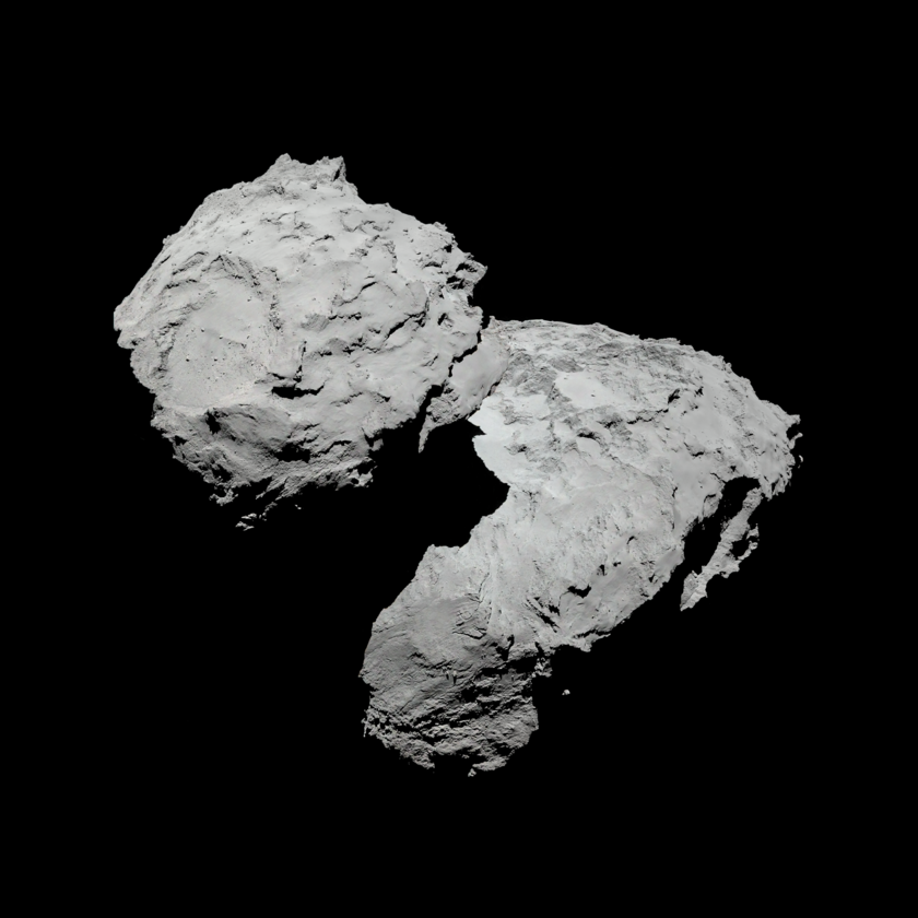 Portrait of comet Churyumov-Gerasimenko in natural color