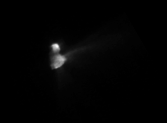 Comet Halley from Vega 2