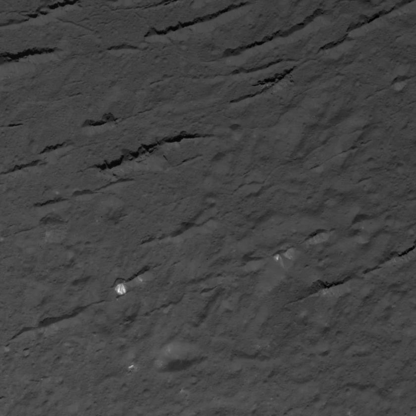 Floor of Occator Crater