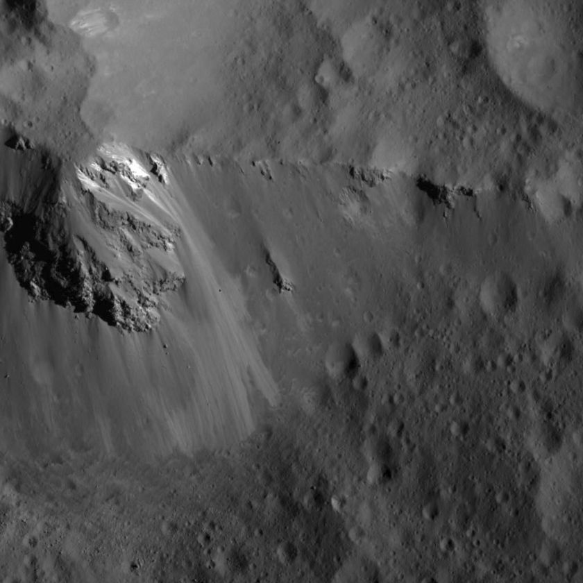 Ridge within Urvara Crater