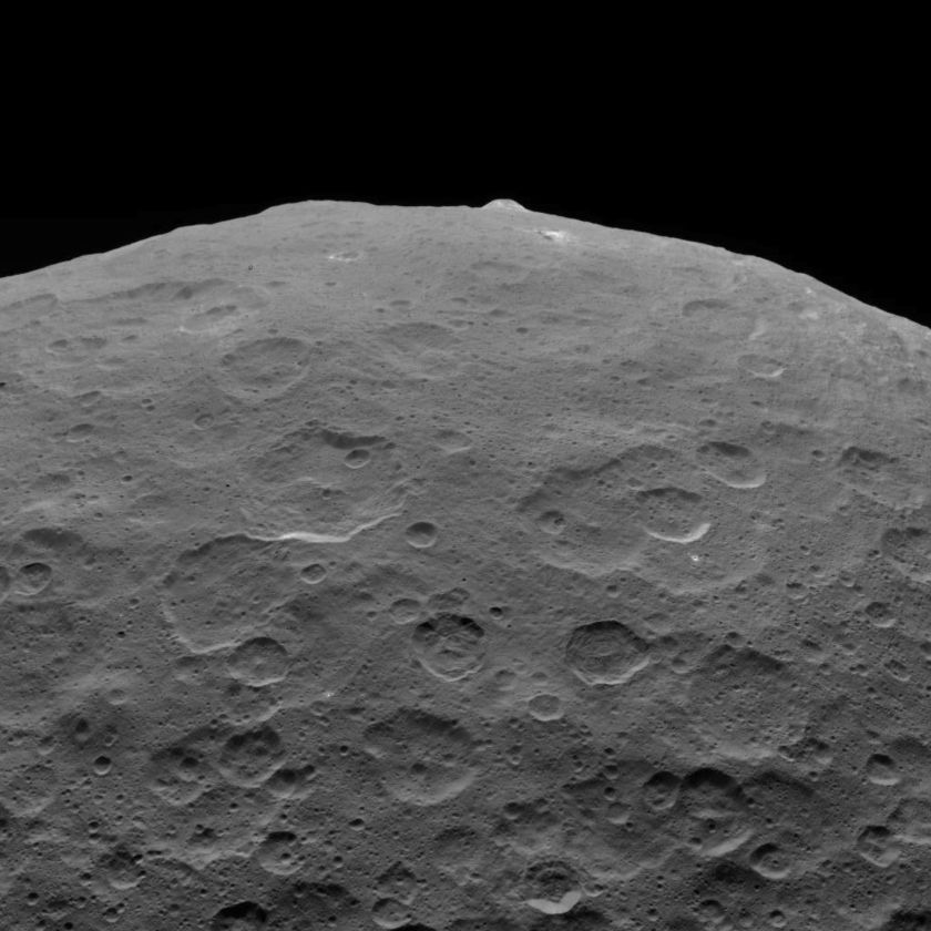 Ahuna Mons on the Limb of Ceres