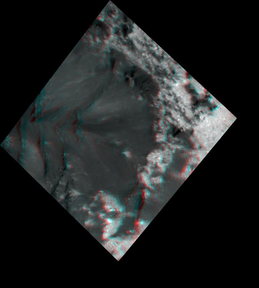 3D view of terrain on Ceres