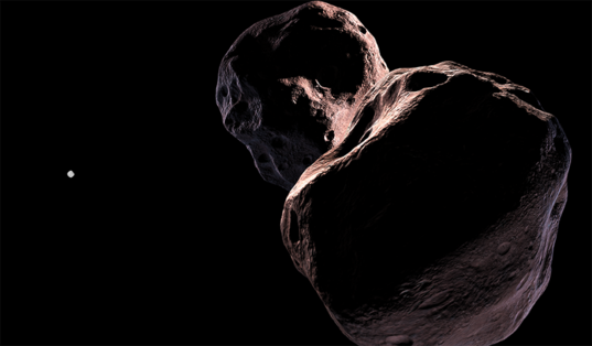 Artist's concept of Bennu and Ultima Thule
