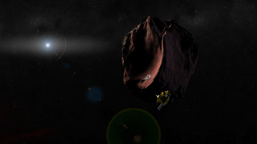 Artist's Concept of Kuiper Belt Object Encounter