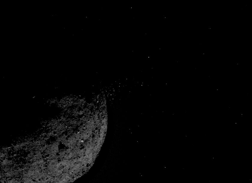 Bennu particle ejection