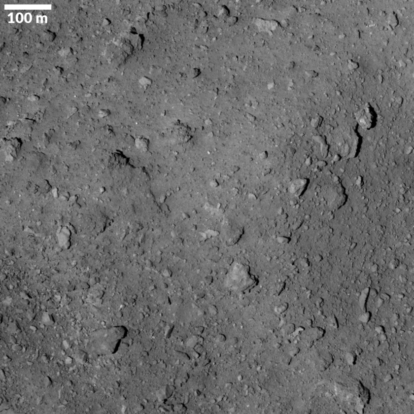 Ryugu's bouldery surface