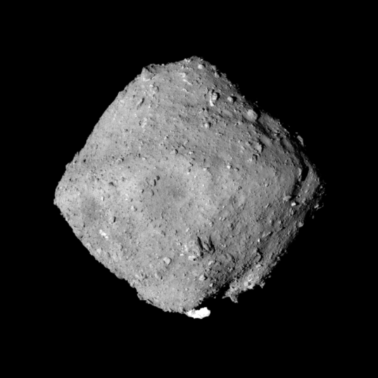 Global view of Ryugu (Urashima crater perspective)
