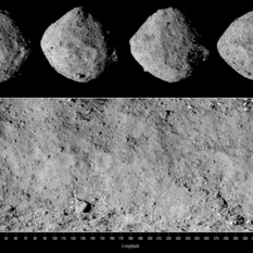 Four Sides of Bennu with Corresponding Global Mosaic