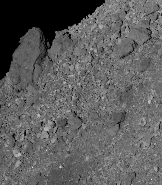 Northern Bennu Boulder Imaged by PolyCam