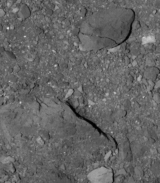 Rocks and Boulders near Bennu's Equator
