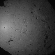 Hayabusa2 shadow during aborted 2nd target marker drop