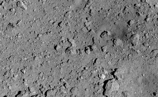 Hayabusa2 SCI artificial crater site