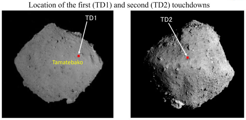Hayabusa2 touchdowns on Ryugu