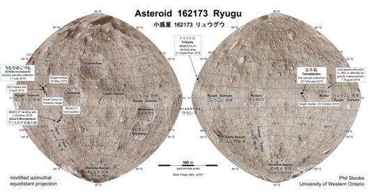 Ryugu surface map