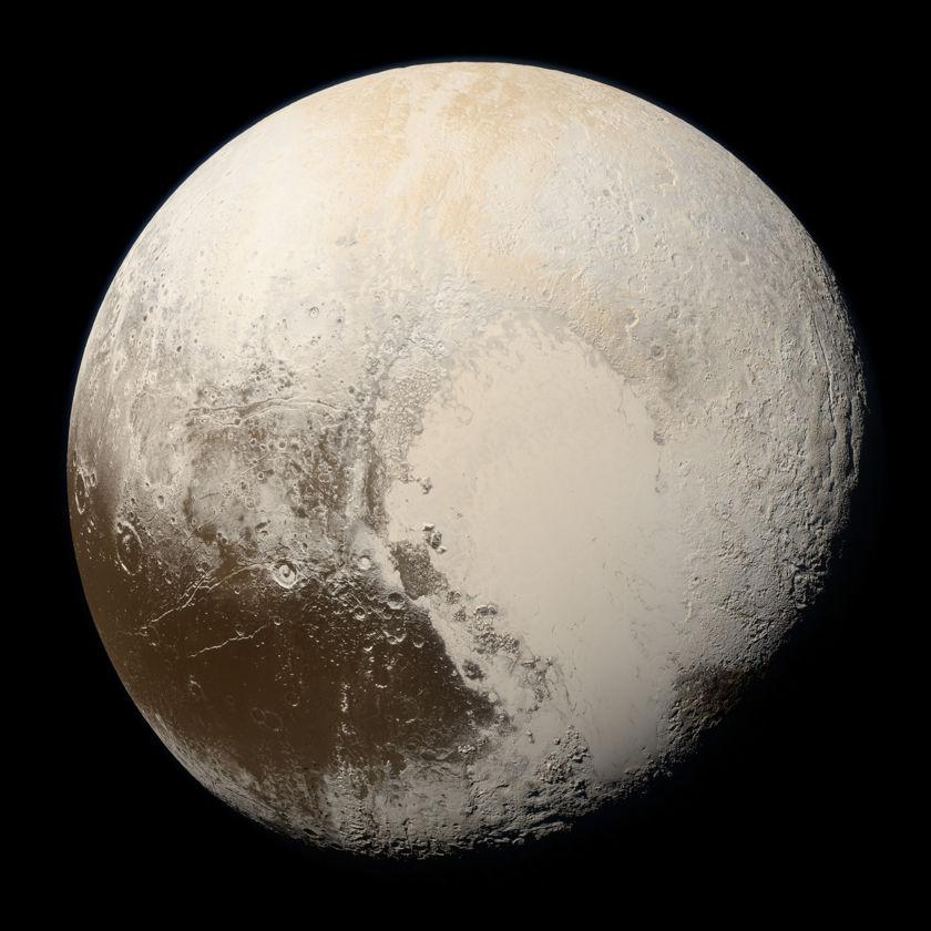 True Colors of Pluto