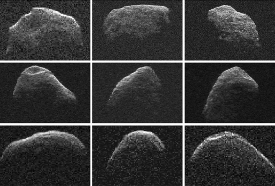 Asteroid Apophis radar images