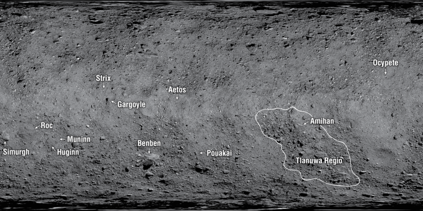 First Formally Named Surface Features on Asteroid Bennu