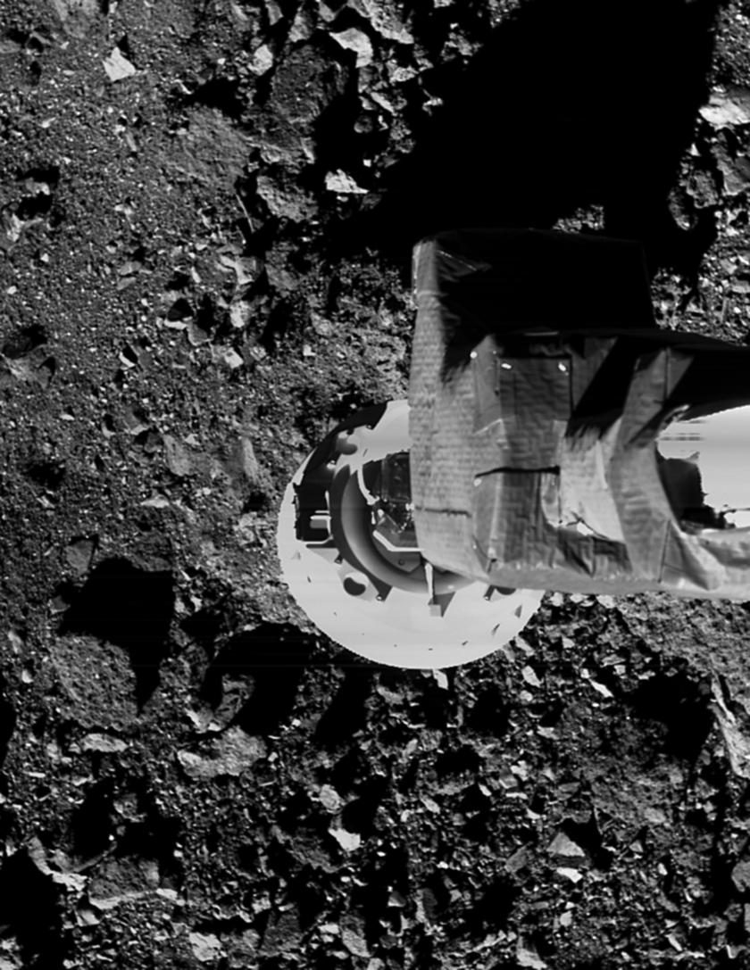 Asteroid Bennu during OSIRIS-REx sample rehersal