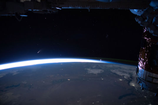 Comet NEOWISE from International Space Station