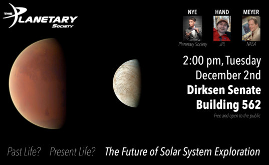 Past Life? Present Life? The Future of Solar System Exploration D.C. Event
