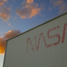 Fading NASA building