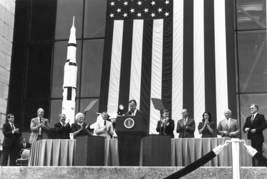 President George H.W. Bush Announces the Space Exploration Initiative
