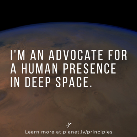 I'm an advocate for human exploration