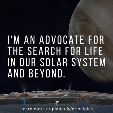 I'm an advocate for the Search for Life