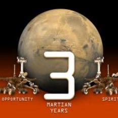 Three years on Mars