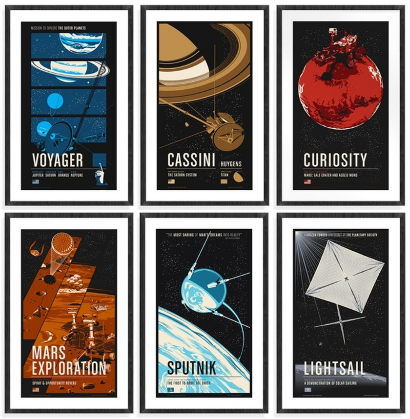 Robotic Spacecraft Posters - Series One