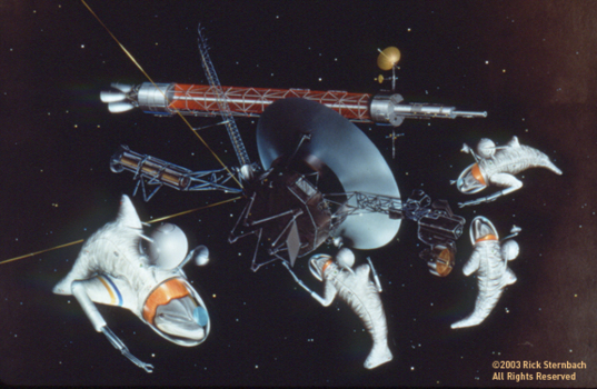 """""""Voyager Found"""" by Rick Sternbach"""