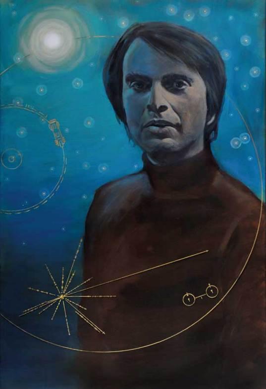 """""""Carl Sagan—Voyager"""" by Simon Kregar"""