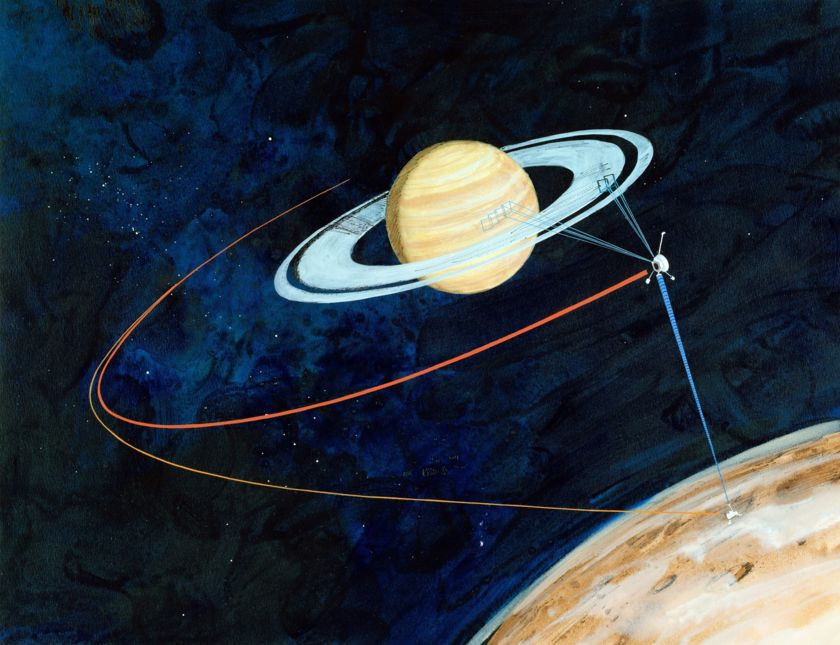 Early Cassini mission art