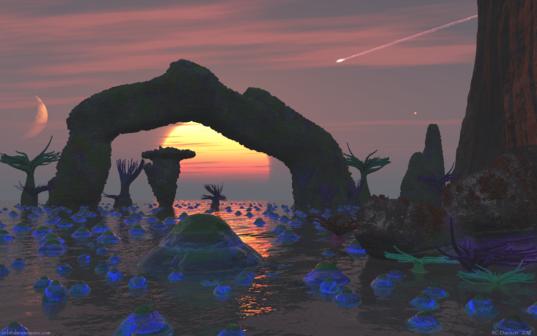 Primordial Sunset