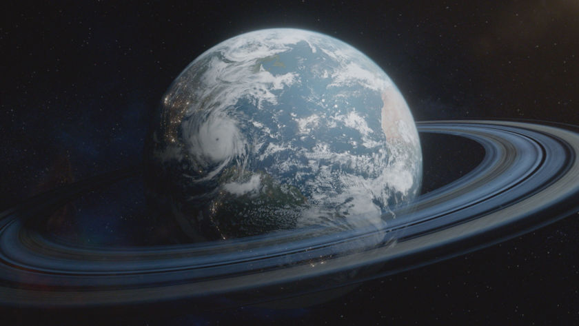 Earth with a ring system (Cosmos: Possible Worlds)