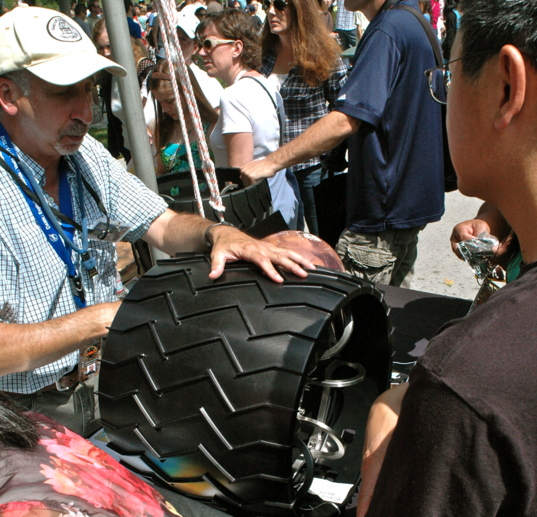 A Curiosity Wheel Displayed at JPL's Open House in 2012