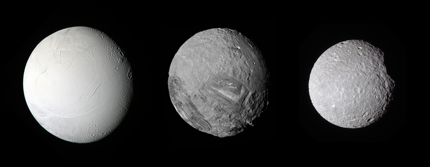 Three half-megameter moons
