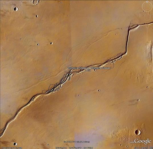 Google Mars: Olympica Fossae