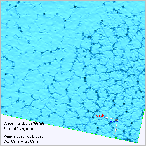 Laser-scanned map of the surface of Surveyor 3