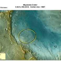 Potential MSL landing site in Miyamoto Crater