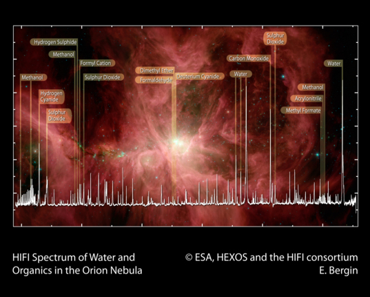 Spectrum of the Orion Nebula