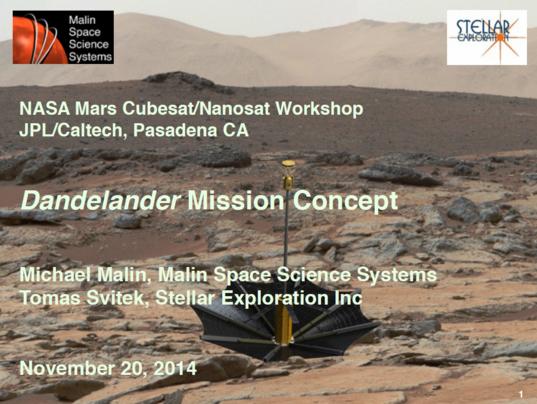 Dandelion Mars Lander