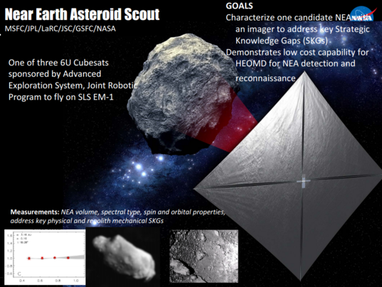 Near Earth Asteroid Scout mission