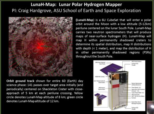 LunaH Map CubeSat mission
