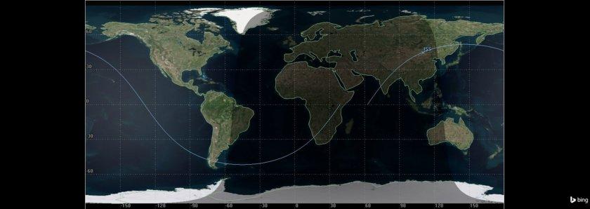 ISS position, Sept. 11 21:29 UTC